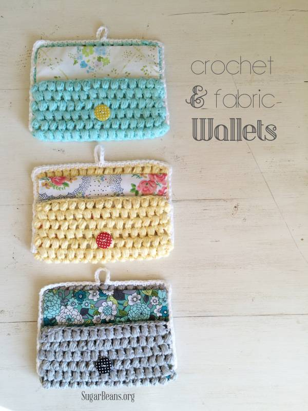 Crochet+++fabric+wallets.+SugarBeans.org