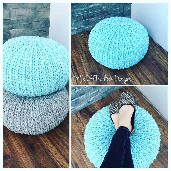 Free Crochet Pattern For Bath Pouf : Free Crochet Pattern ? Floor Pouf ? Crochet