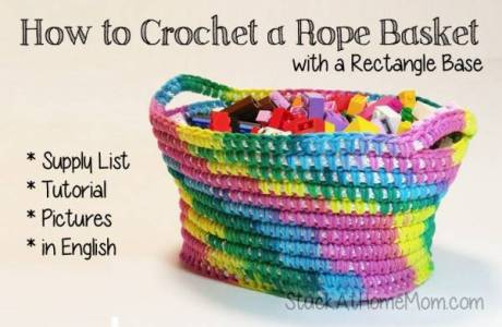 Free Pattern – Rope Basket