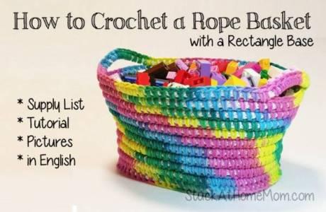 Free Pattern – Rope Basket