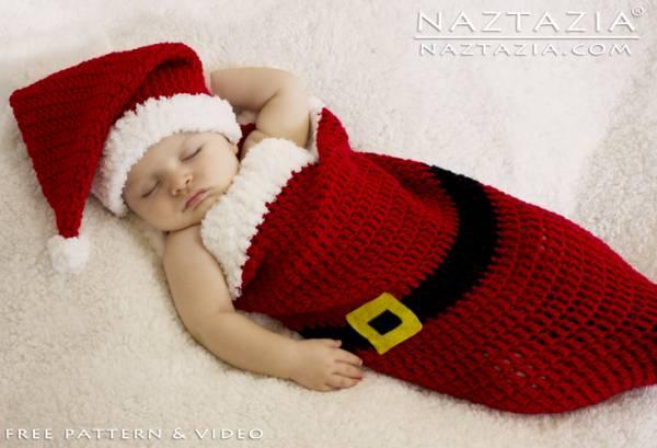 Free Pattern – Santa Baby Cocoon – Crochet