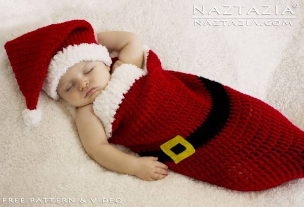 Free Pattern Santa Baby Cocoon Crochet