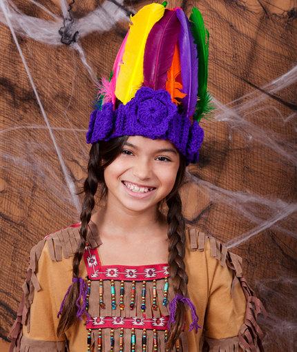 Crochet Indian Princess Head dress