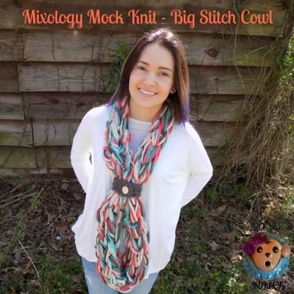 Mock Knit Big Stitch Cowl