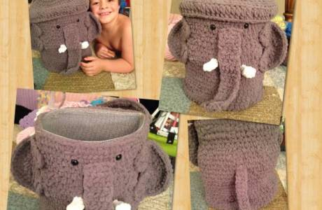 Crochet Pattern – Elephant Storage Basket