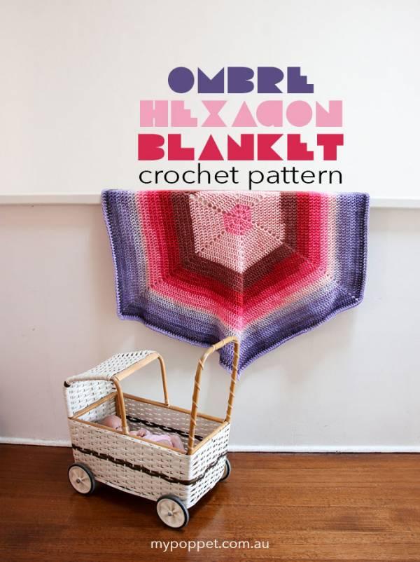 Caron Cakes Hexagonal Blanket – Crochet