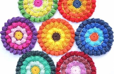 Colorful Crochet Coasters