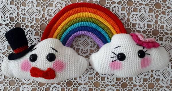 Amigurumi Crochet Pattern Mr Mrs Cloud