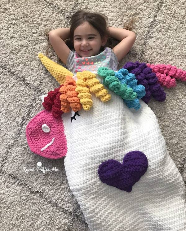 Unicorn Snuggle Sack Crochet Pattern Crochet