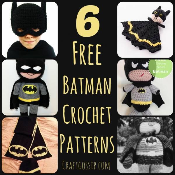 6 Crochet Batman Patterns