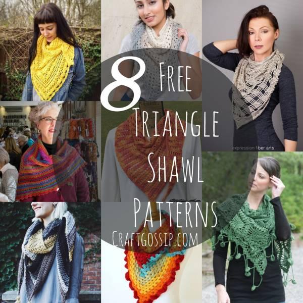 8 Crochet Triangle Shawl Patterns Crochet