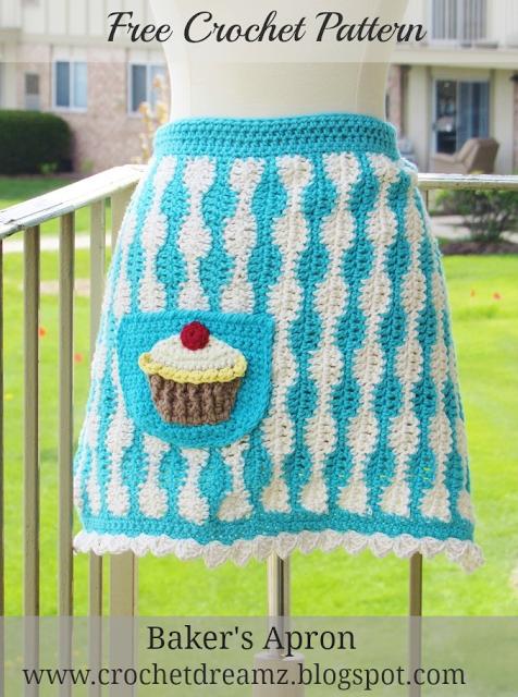 Crochet Cupcake Apron