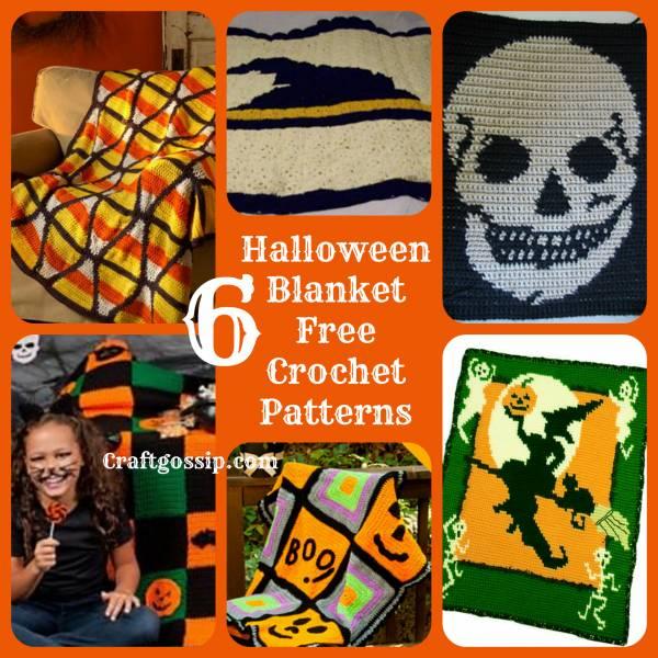 6 Halloween Afghan Crochet Blankets Crochet