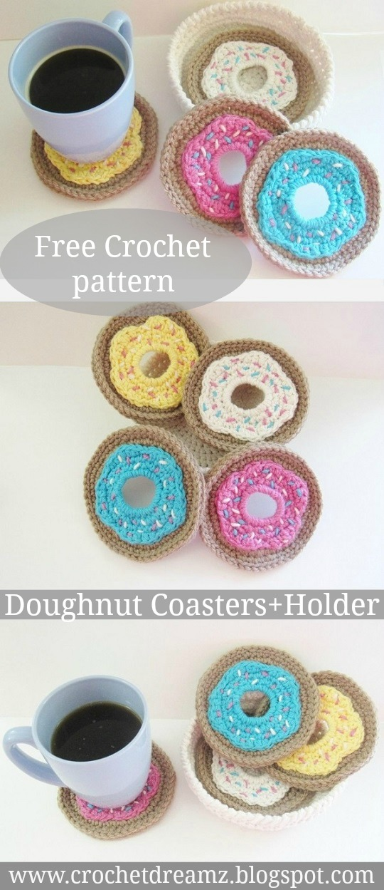 Crochet Pattern Donut Coasters