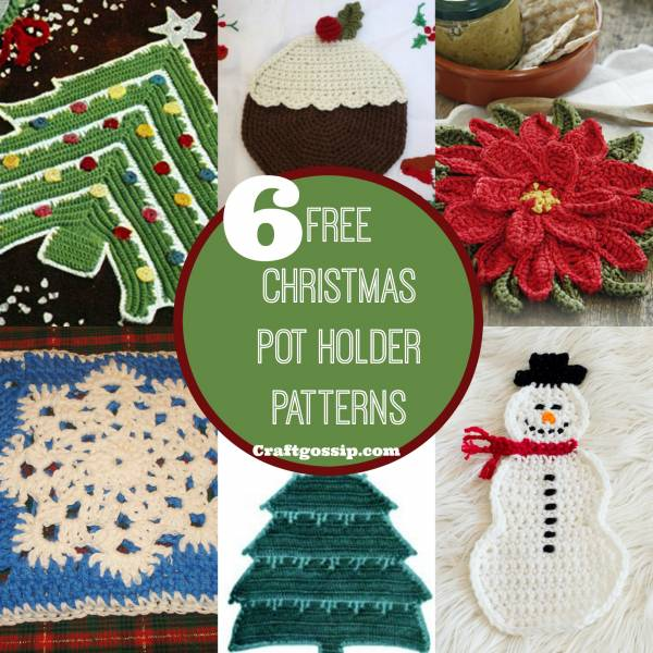 6 Christmas Pot Holders You Can Crochet Crochet