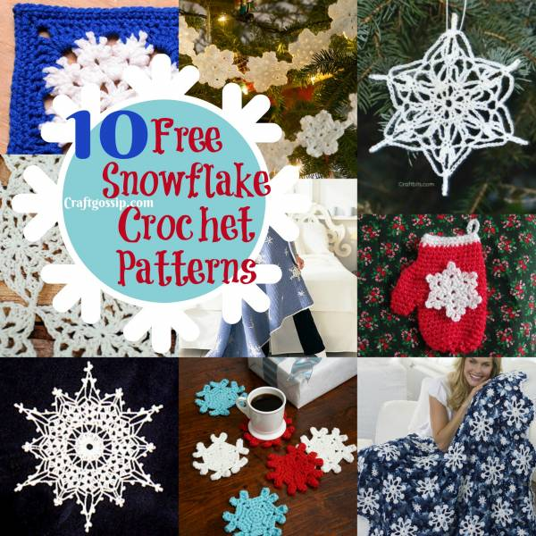 10 Christmas Snowflake Crochet Patterns Crochet