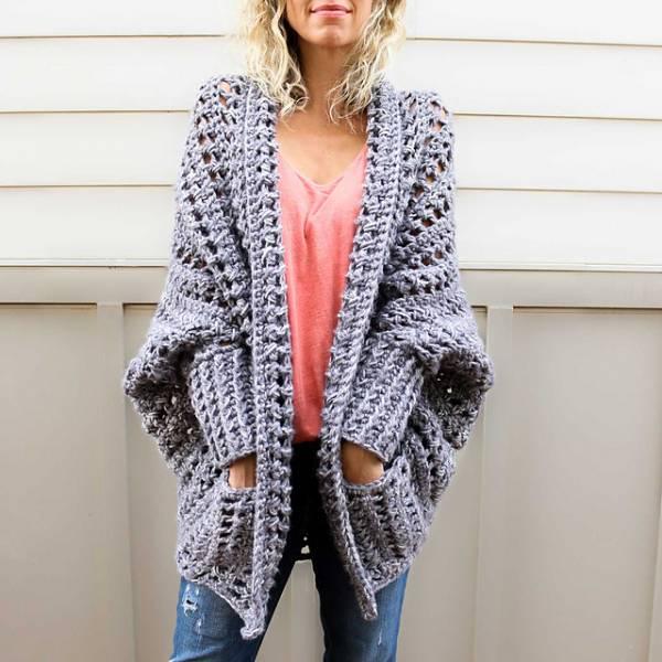 Free Pattern – Chunky Crochet Cardigan – Crochet