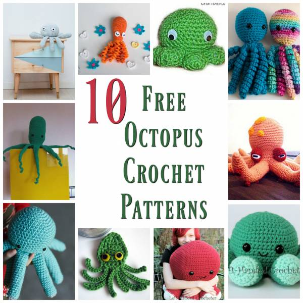 Octopus amigurumi, big AND small octopus pattern by ... - Ravelry | 600x600