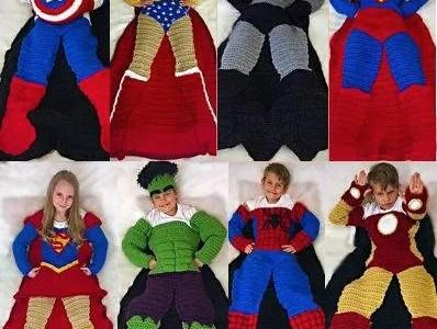 Superhero Crochet Blankets Pattern