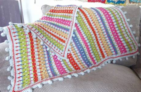 Block Stitch Blanket Crochet Pattern