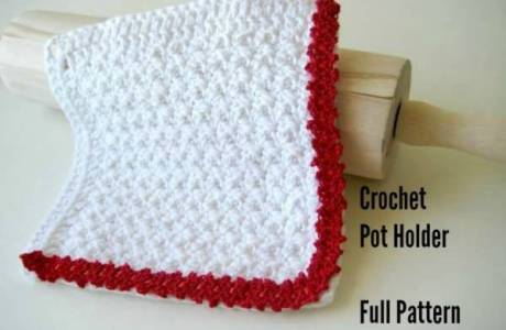 Lace Trim Pot Holder Crochet Pattern