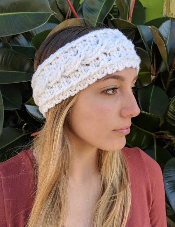Free Crochet Pattern – One Skein Cable Headband and Ear Warmer