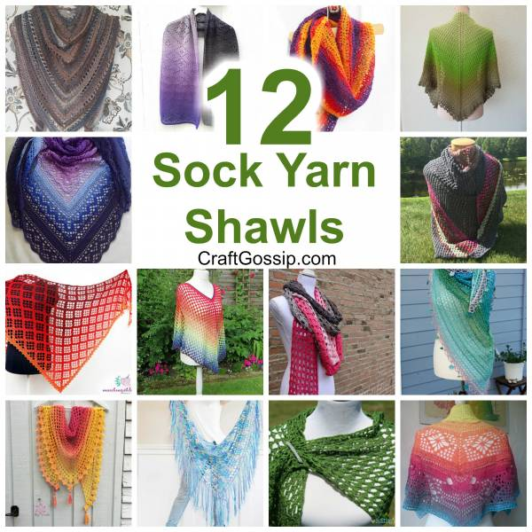 12 Free Crochet Shawls To Make With Sock Yarn