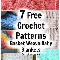 Crochet Patterns -  Basket Weave Baby Blankets