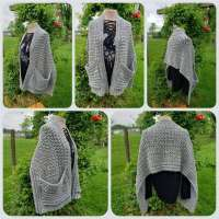 Easy Crochet Pattern for Hugs Pocket Wrap Shawl for Beginners