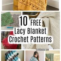 10 Free Lacy Blanket Patterns To Crochet