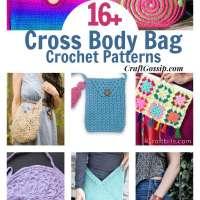 16 Cross Body Bags You Can Crochet