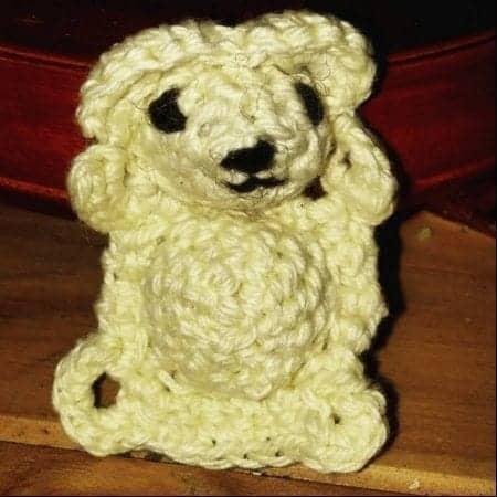 Crochet mini bear free pattern