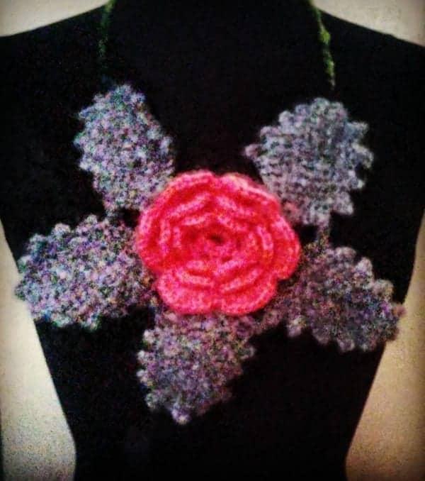 Rose And Leaves Irish Crochet Motif How To Crochet