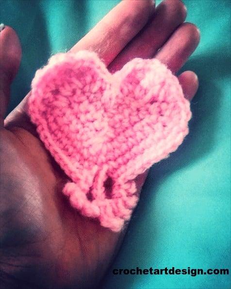 crochet heart how to crochet heart crochet heart pattern