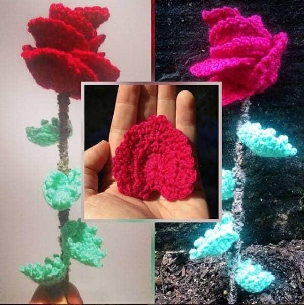 crochet rose pattern rose crochet pattern