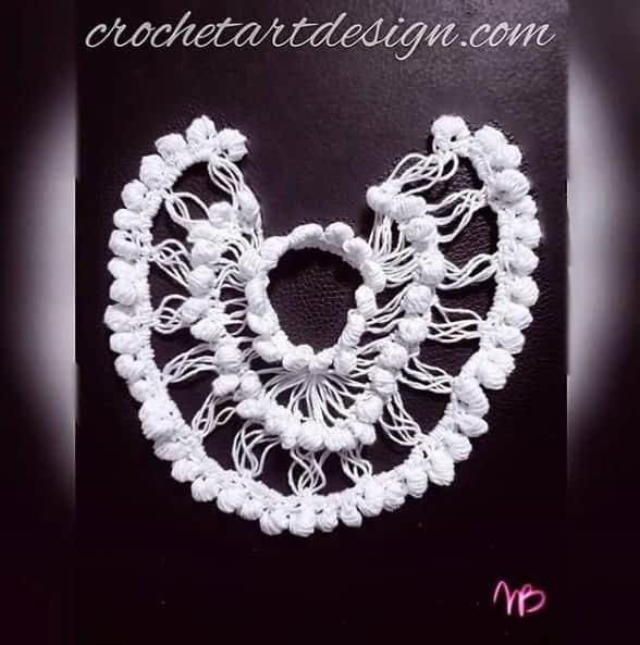 crochet hairpin motif jewelry