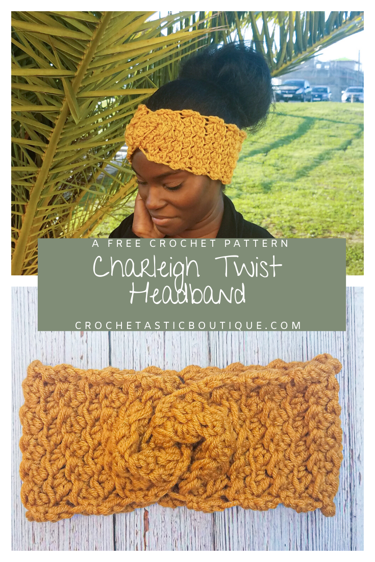 Charleigh Twist Headband by Shanice @ Crochetastic Boutique