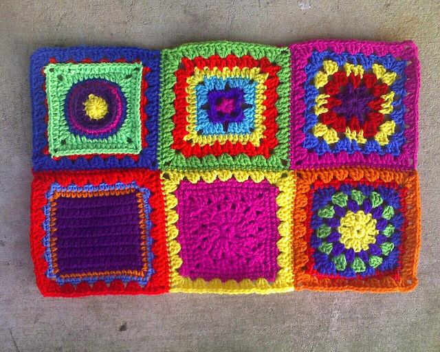 Six crochet granny squares crochet squares