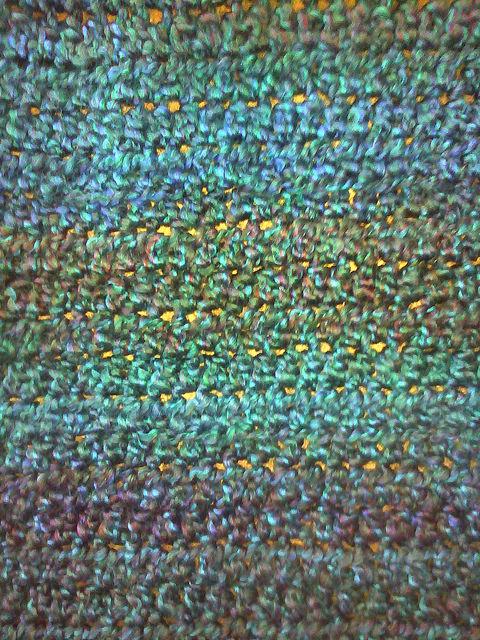 Detail of a crochet shawl