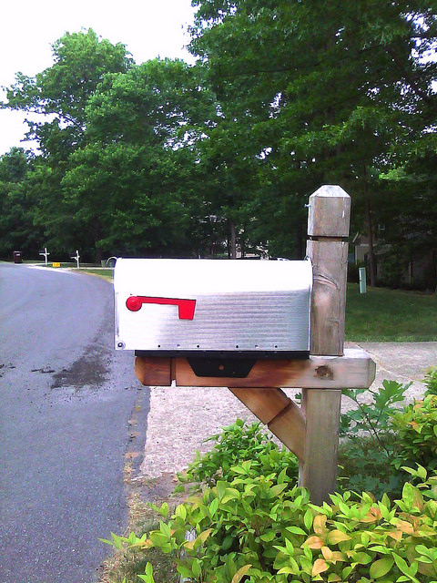 unadorned mailbox