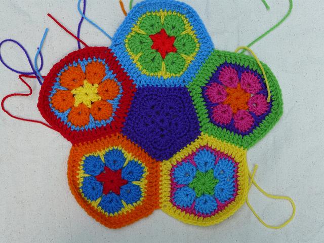 crochet soccer ball panel