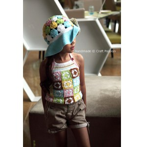 child's crochet hat and tank top