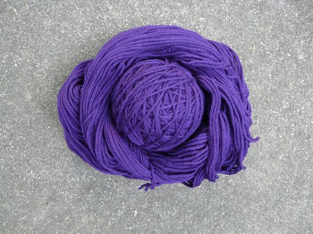 purple wool yarn