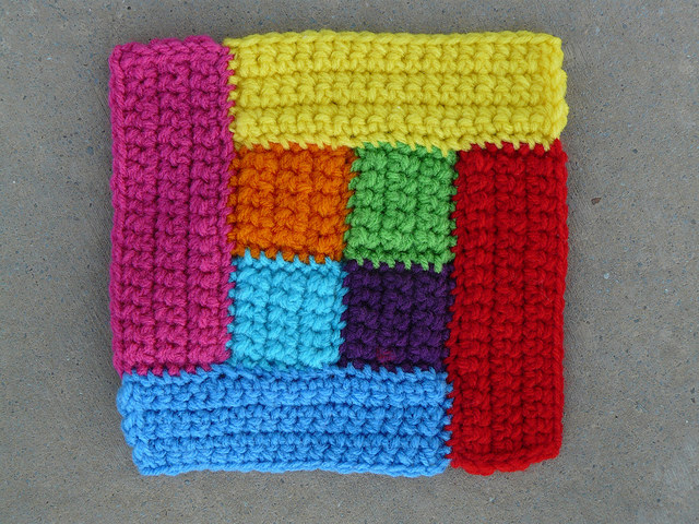crochetbug, crochet squares, crochet rectangles, crochet motif, crochet quilt block