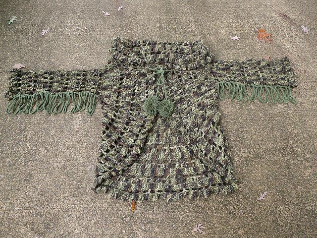 crochet circle, crochetbug, camouflage, crochet circles, crochet sweater