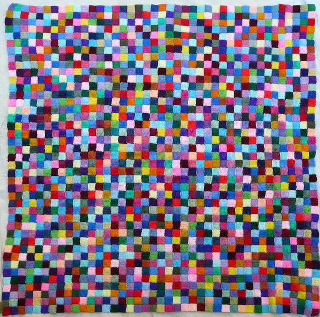 crochet blanket made from  over 1000 crochet squares