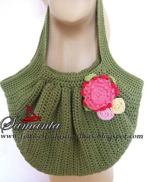 crochet bag, crochetbug, crochet purse, crochet tote, crochet fat bag, samanta's crochet fat bag,