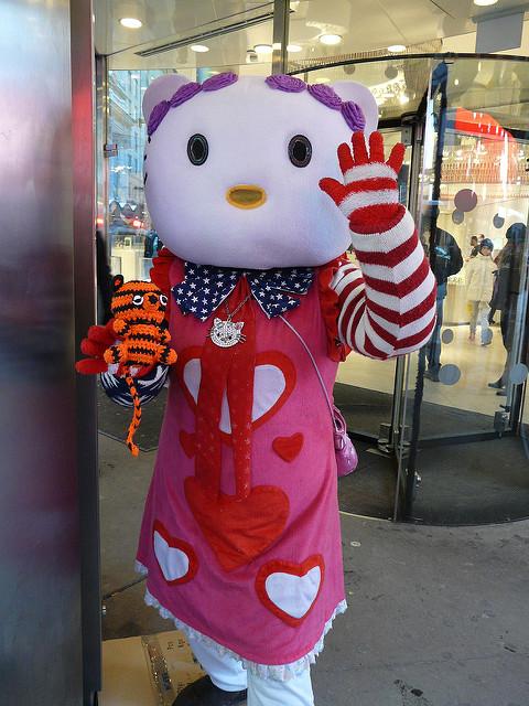 crochetbug, crochet tiger, amigurumi tiger, nyc, times square, crochetbug