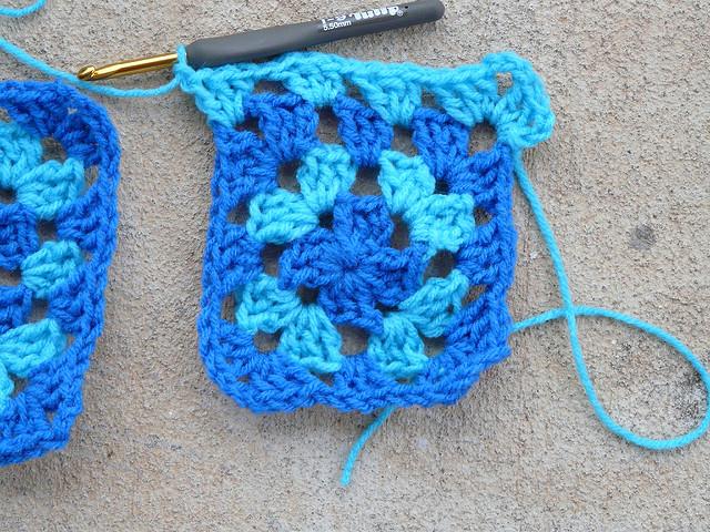 blue granny square