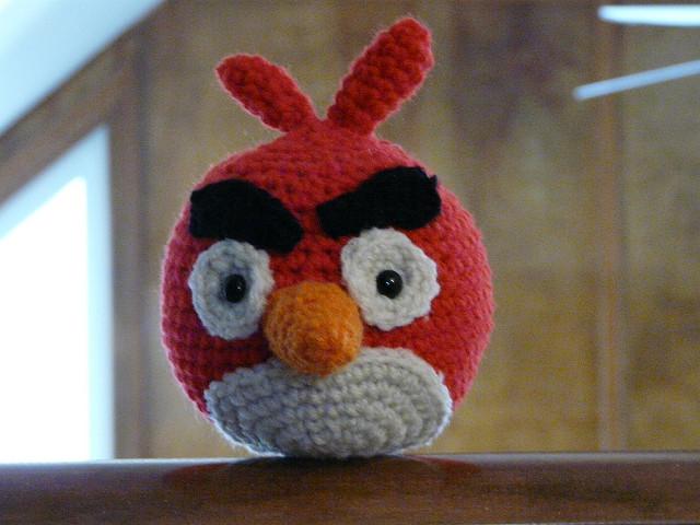 Angry birds crochet cardinal
